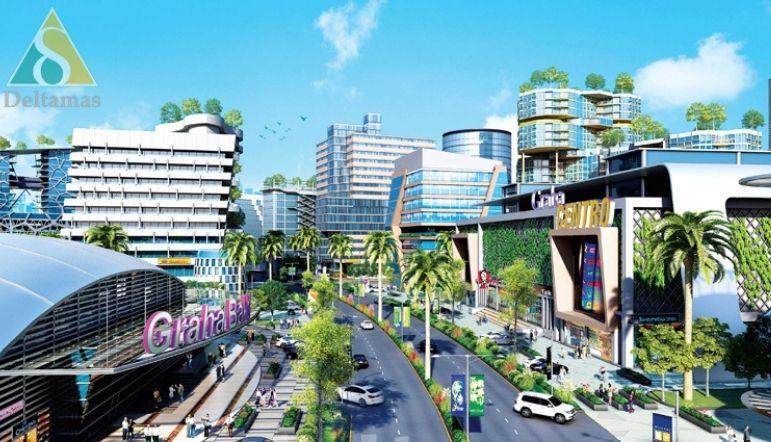kota deltamas dengan fasilitas infrastruktur standar internasional